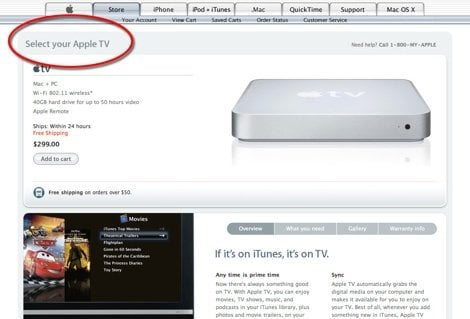 apple store appletv sm Apple planning additional Apple TV models?