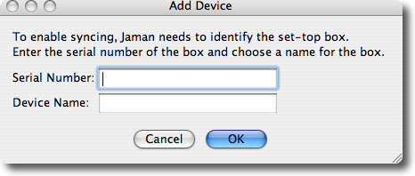 add device1 JamanTV:  a sneak preview