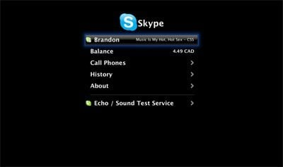 skype plugin Native Skype plugin for Apple TV in the works
