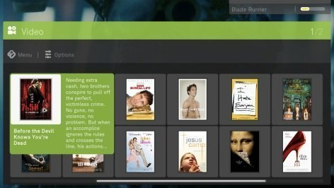 boxee movie selection