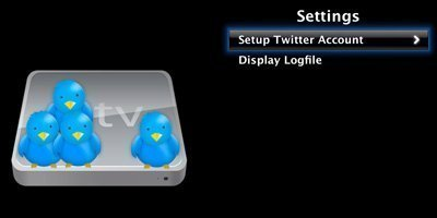 settings aTVitter   the first Twitter client for Apple TV