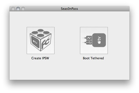 Seas0nPass 02 How to jailbreak Apple TV 2 on iOS 4.2.1 with Seas0nPass
