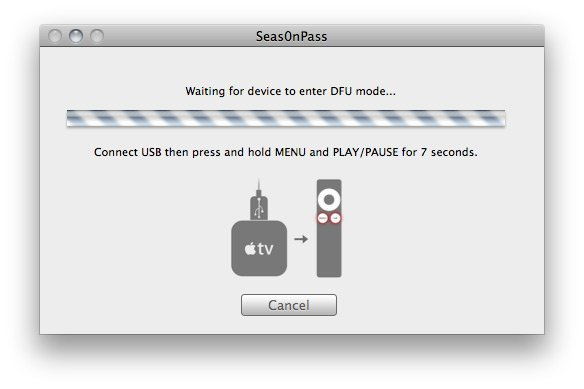 Seas0nPass 04 How to jailbreak Apple TV 2 on iOS 4.3 with Seas0nPass (tethered)