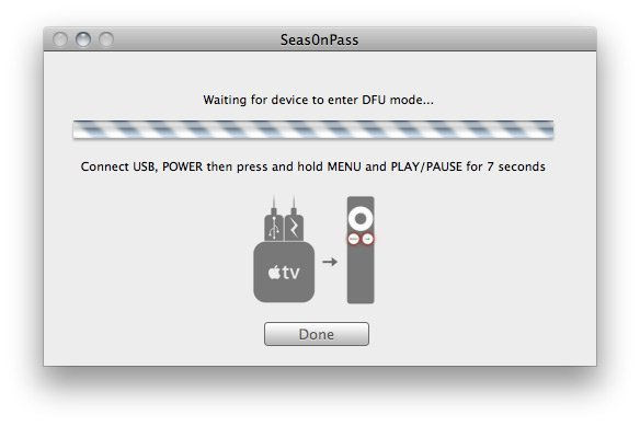 Seas0nPass 07 How to Jailbreak Apple TV 2 on iOS 5 (Apple TV 4.4) Using Seas0nPass   Tethered
