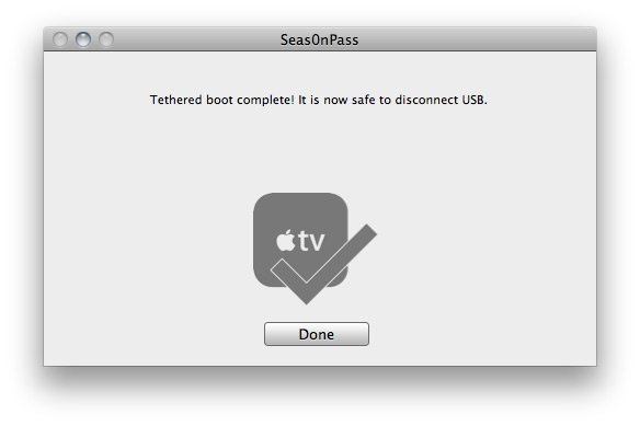 Seas0nPass 08 How to jailbreak Apple TV 2 on iOS 4.3 with Seas0nPass (tethered)