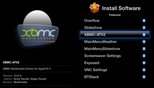 xbmc apple tv 2 install How to install XBMC on Apple TV 2