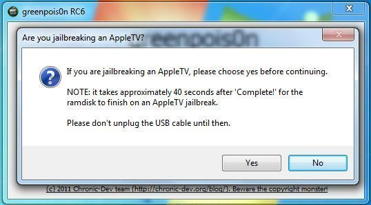 atvh gprc6 01 How to jailbreak Apple TV 2 with greenpois0n rc6