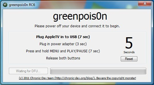 atvh gprc6 03 How to jailbreak Apple TV 2 with greenpois0n rc6