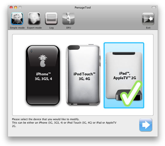 PwnageTool 4 3 apple tv 2 Untethered iOS 4.3.1 Jailbreak for Apple TV 2 Released (updated)
