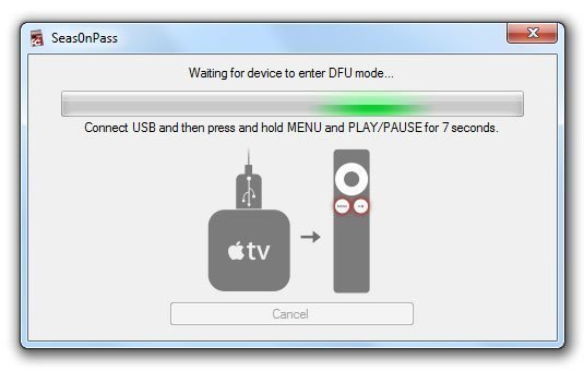seas0npass untethered windows apple tv 2 04 How to Jailbreak Apple TV 2 on iOS 4.3 or iOS 5 Beta with Seas0nPass 0.7.7 (untethered)