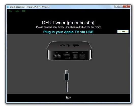 sn0wbreeze07 How to Jailbreak Apple TV 2 on iOS 4.3 with sn0wbreeze (untethered)