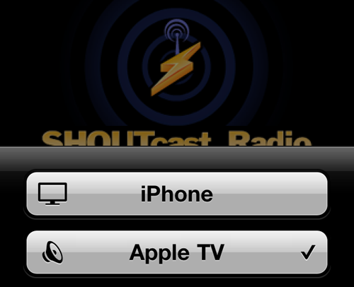 SHOUTcast Radio App apple tv 2 air play SHOUTcast Radio App Updated to Support AirPlay