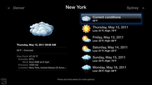 atvb weather aTV Flash (black) Beta5 for Apple TV 2 Now Available
