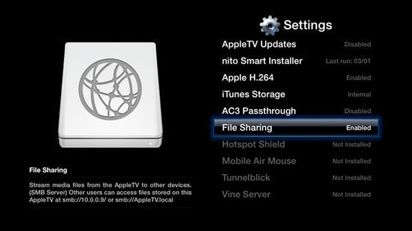 apple tv filesharing aTV Flash 4.3 for 1st Generation Apple TV Now Available
