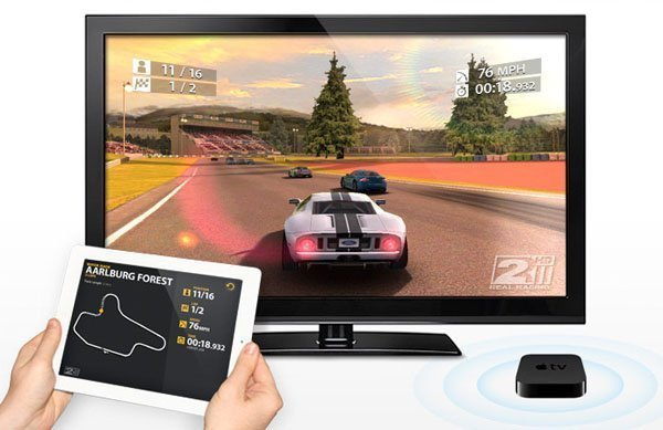 real racing 2 hd airplay apple tv 2 Real Racing 2 HD First to Support Wireless Gaming over AirPlay on Apple TV 2