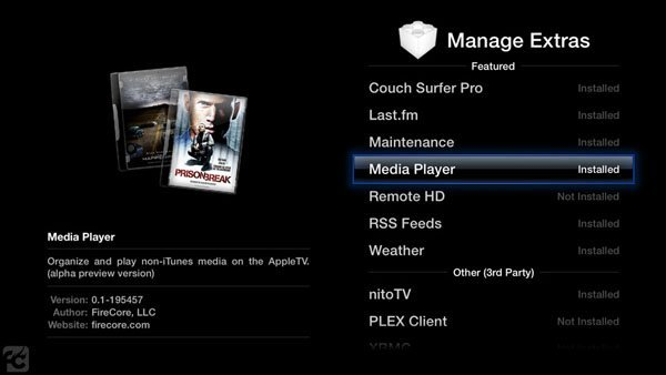 media player for apple tv 2 Media Player 0.6 for Apple TV 2 Released