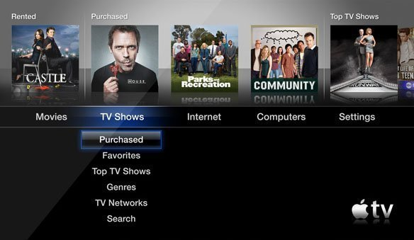 apple tv 2 purchased shows Apple TV Software Update 4.3 Adds TV Show Purchases and iCloud Support