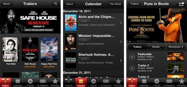 iTunes Movie Trailers AirPlay-Enabled App for Apple TV
