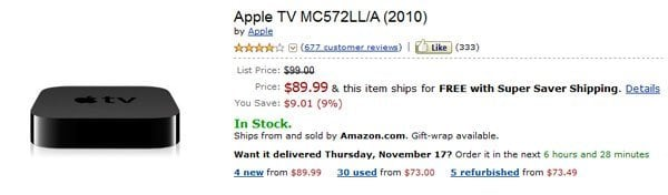 new applet tv 3 amazon best buy Apple TV 2 price drops suggest Apple TV 3 is coming soon