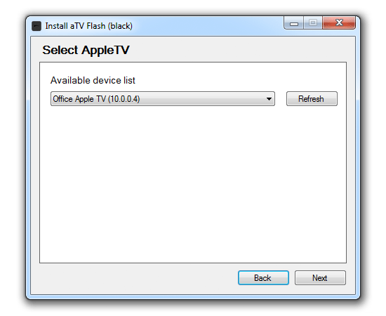 select win How to install aTV Flash (black) 1.0 on Apple TV 2