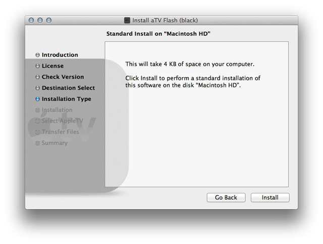 step2 mac How to install aTV Flash (black) 1.0 on Apple TV 2