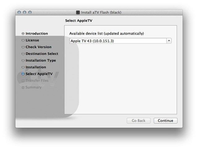 step3 mac How to install aTV Flash (black) 1.0 on Apple TV 2