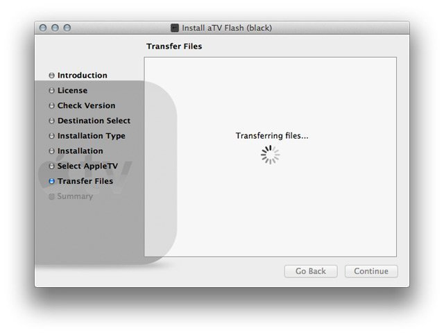 step4 mac How to install aTV Flash (black) 1.0 on Apple TV 2