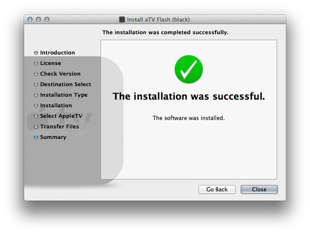 step5 mac How to install aTV Flash (black) 1.0 on Apple TV 2