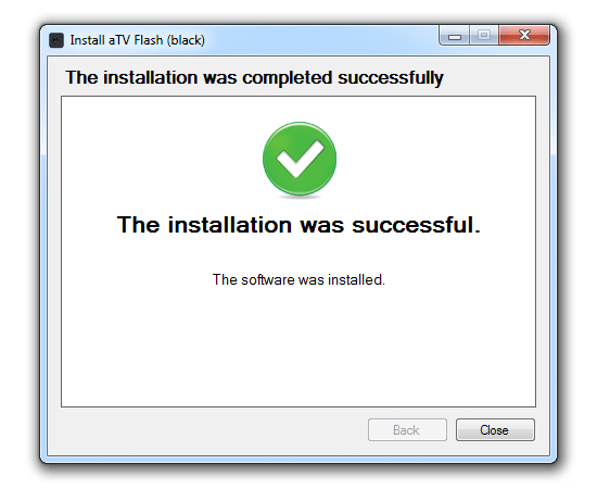 success win How to install aTV Flash (black) 1.0 on Apple TV 2