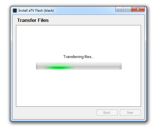 transferring win How to install aTV Flash (black) 1.0 on Apple TV 2