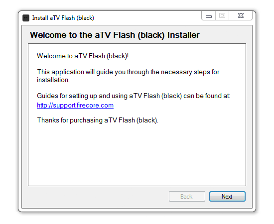 welcome win How to install aTV Flash (black) 1.0 on Apple TV 2