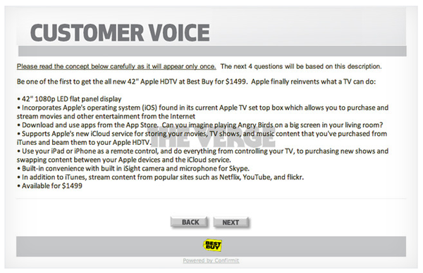 apple hdtv best buy 42 inch Apple HDTV for $1499 appears in Best Buy survey (updated)