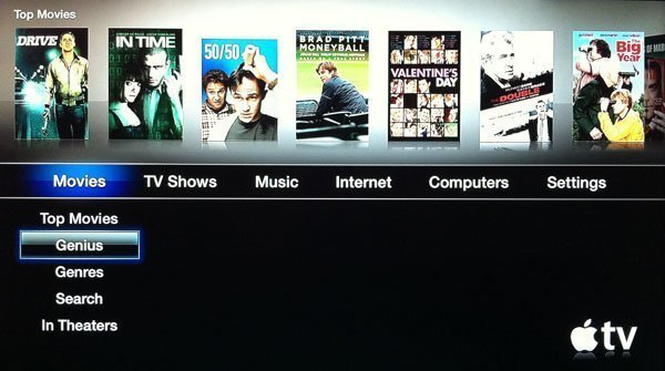 Genius recommendations for Apple TV 2
