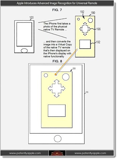 apple tv remote iphone1 Apple patent reveals advanced TV remote 