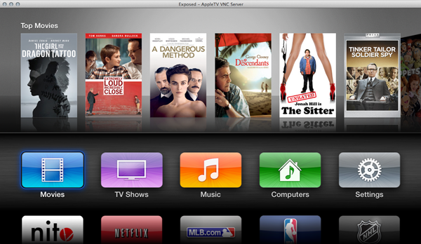 nitoTV on jailbroken Apple TV 2 5.1