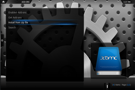 xbmc install 05 How to install XBMC add ons and plugins on Apple TV