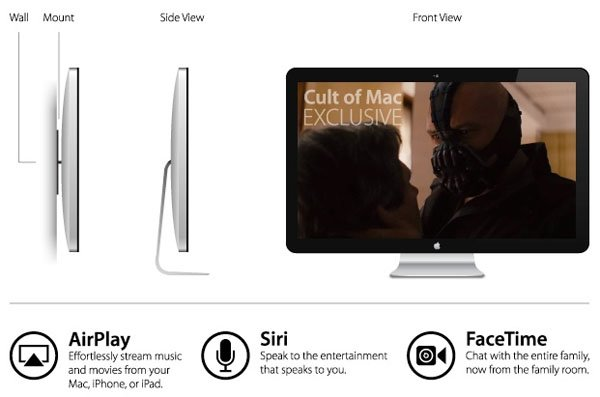 apple hdtv siri facetime isight Source unveils design and features of Apple HDTV