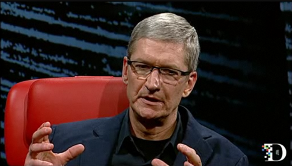 cook d10 Tim Cook talks Apple TV at D10, sees TV as area of intense interest