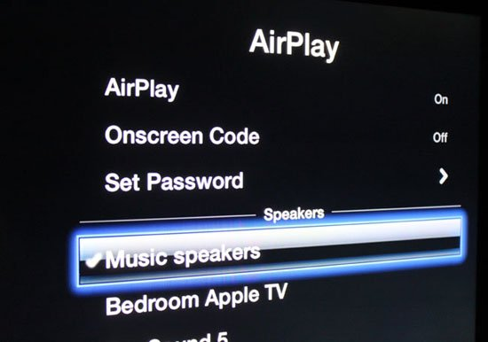 Apple TV iOS 6 beta tweaking AirPlay speaker out feature