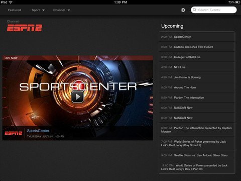 Watchespn Iphone And Ipad App Updated With Airplay Support
