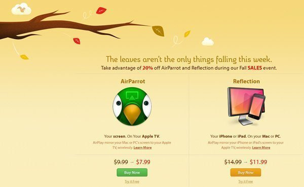 airparrot sale Fall sales: AirParrot and Reflection are 20% off