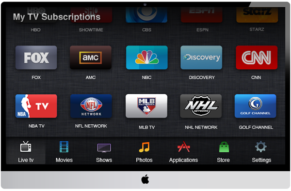 apple tv set concept Visions of the new Apple TV: Hardware, UI and OS Concept
