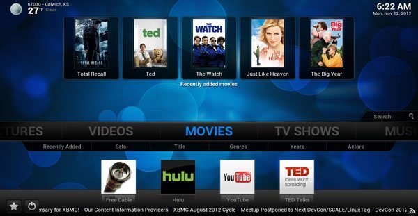 XBMC 12.0 Frodo on Apple TV