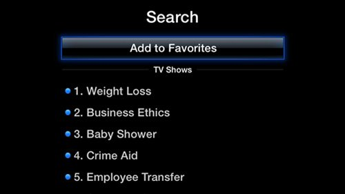 favorites aTV Flash (black) 2.1 for Apple TV 2 brings TV Show Playlists, Custom Favorites and more