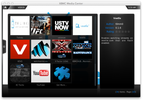 xbmc get more e1359128353920 XBMC on Apple TV: How to navigate XBMCs menus options