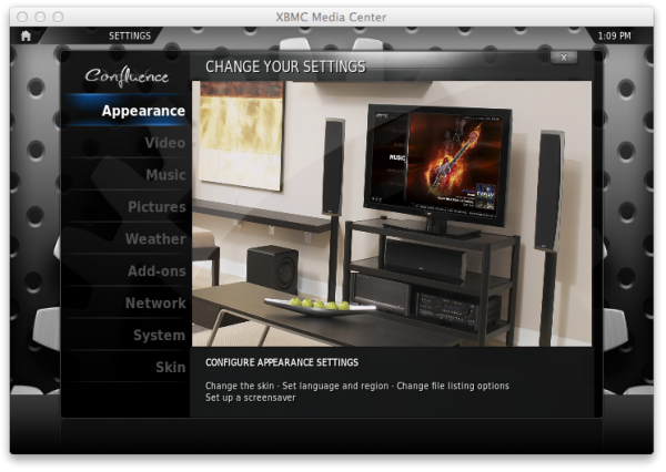 xbmc system e1359128411468 XBMC on Apple TV: How to navigate XBMCs menus options