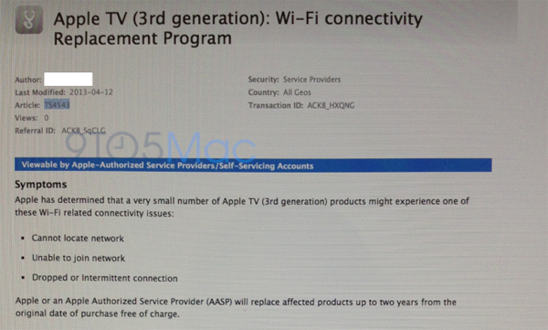 appletvreplacement2 Apple opens replacement program for 3rd generation Apple TVs with WiFi connectivity issues