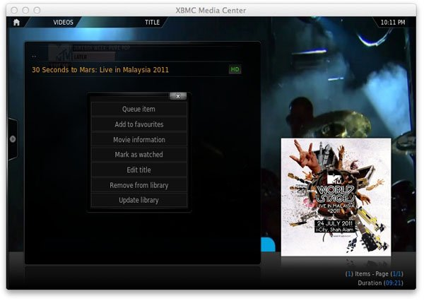 Use XBMC to extend your Apple TVs hard drive (XBMC library integration)