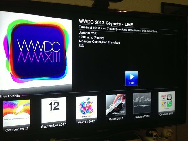 apple tv wwdc 2013 live stream Apple to live stream todays WWDC keynote to Apple TV (updated)