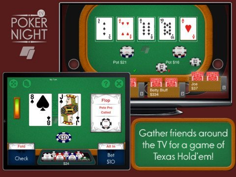 poker02 Enjoy poker with friends on Apple TV with Poker Night TV